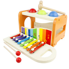 八音阶木制音乐玩具打击乐敲打玩具