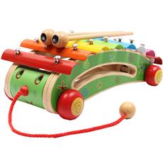 木制儿童音乐学步玩具