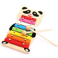 木制儿童手音乐拖拉敲琴玩具
